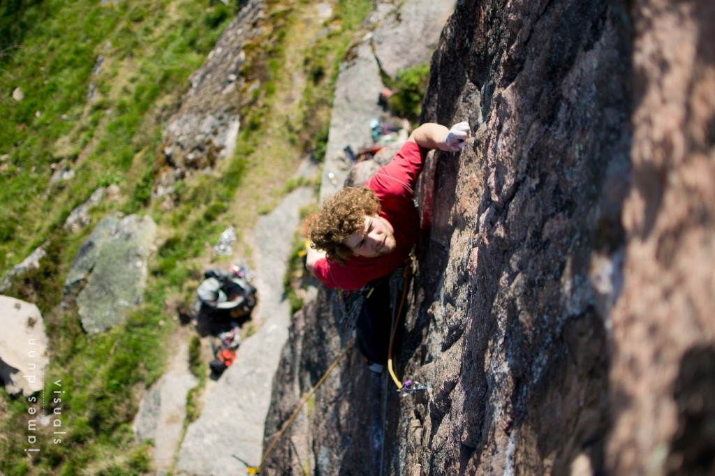 "Scoping the moves on ""Demon Drink"" E5 (Photo credit - James Dunn Visuals)"