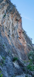 Dougie flashing his 7a+ at Vallada