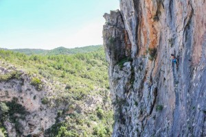 Me on an outstanding 6c at Vallada