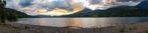 Sun setting over Lac Serre Ponçon