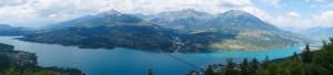 Lac Serre Ponçon from a bit higher.