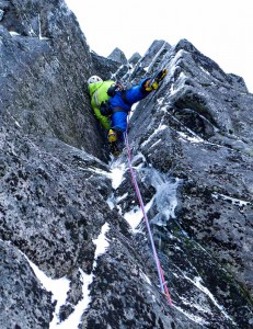 Me leading the second pitch.