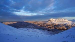 Amazing light over the hills