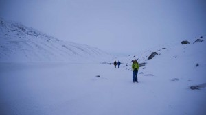 Guy, James and Neil making the most of the easy walking conditions
