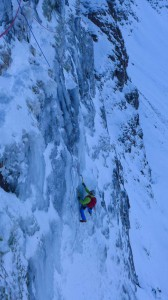 Me seconding the first icy pitch