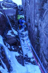The last tricky section before the solo mission to the top