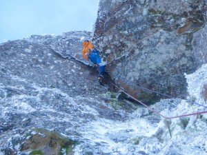 Guy getting stuck into some steep action!