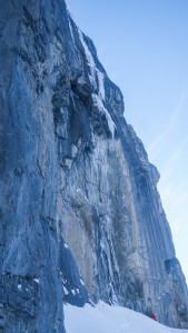 """Pitch one of """"Dawn of the Dead"""" taken two days after we climbed it when we returned to the Headwall."""