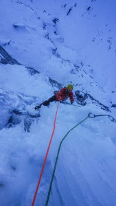 Nick on the WI6+ pillar on the third pitch of NOWS